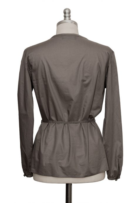 grey casual blouse made of extra fine cotton - Sveekery Berlin