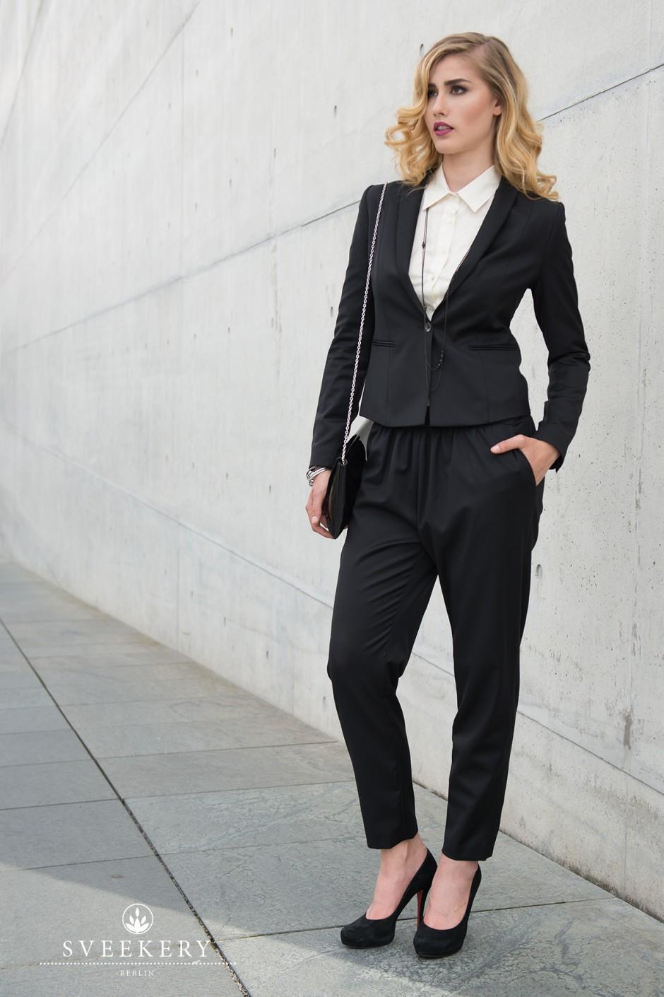Organic & Ethical Suit Blazer Pants Organic Wool / Bio Blazer Hose Bio-Wolle / Peace Silk Blouse / Bluse aus gewaltfreier Seide
