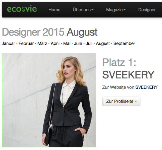 EcoEnVie Designer August 2015