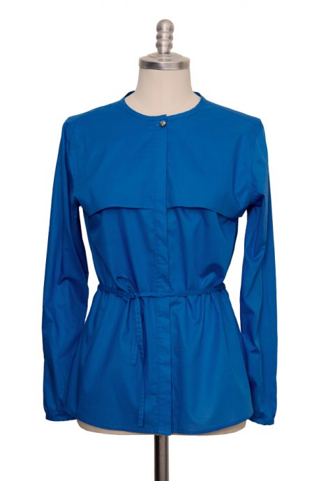 blue casual blouse made of extra fine cotton - Sveekery Berlin