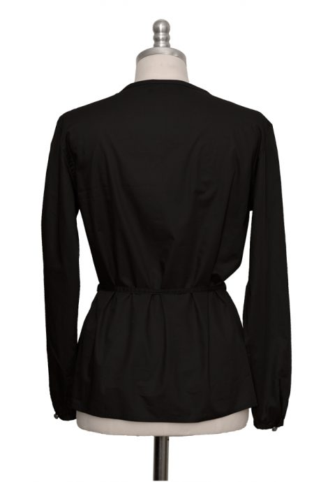 black casual blouse made of extra fine cotton - Sveekery Berlin